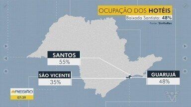 Santos tem ocupação de 55% no feriado da Revolução Constitucionalista - Na Baixada Santista, a ocupação média é de 48%.