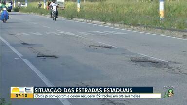 Rodovias estaduais devem ser recuperadas em até seis meses - Saiba mais em g1.com.br/ce