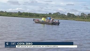 Audiência pública debate lei da cota zero para pesca em MS - A audiência pública foi promovida pelo Ministério Público Federal (MPF). A ideia foi ouvir as necessidades dos pescadores sobre as regras que estão valendo no estado.
