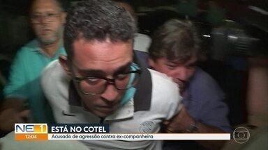 Acusado de jogar substância corrosiva em ex-companheira diz à polícia que iria assustá-la - William César dos Santos Júnior foi levado para o Cotel e vítima da agressão está internada em estado grave no Hospital da Restauração.