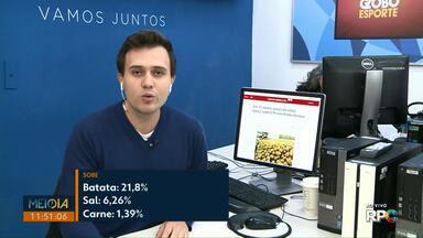 Cesta básica tem aumento de 0,59% em junho, em Ponta Grossa - Batata foi o item que mais subiu: 21,8%.