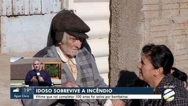 Garoto ajuda a salvar idoso de incêndio em Ponta Porã - Fogo atingiu a casa onde ele morava
