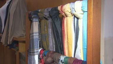 Venda de cachecol está em alta em Campos do Jordão - Acessório está sendo bastante usado com o frio dos últimos dias.