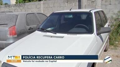 Polícia recupera veículo roubado na Capital - Polícia recupera veículo roubado na Capital.