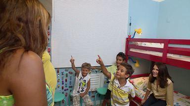 Super Quadrigêmeos, Ativar! - No episódio de estreia os protagonistas são quadrigêmeos! Eles têm seis anos de idade e dividem o mesmo quarto. Bel Lobo vai transformar o quarto deles.