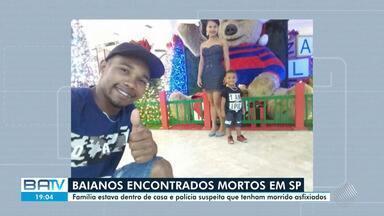 Baianos são encontrados mortos dentro de casa em São Paulo - Casal e criança de dois anos eram da mesma família. A polícia suspeita que eles tenham morrido asfixiados.