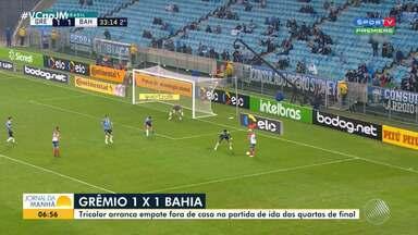 Copa do Brasil: Bahia empata com o Grêmio fora de casa nas quartas de final - Veja os principais lances do jogo, que aconteceu na noite de quarta-feira (10), e os comentários de Gustavo Castelucci.