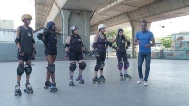 Hoje é dia de patinar: Roller Derby - Você sabe patinar? Que tal uma aula com a orientadora de um time feminino de Roller Derby?