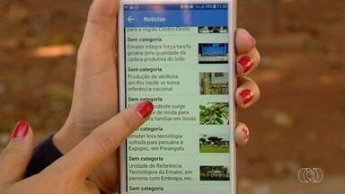Emater cria aplicativo para ajudar produtor rural em Goiás - Tecnologia permite acesso a informações atualizadas sobre a produção.