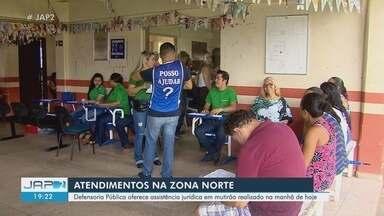 Defensoria pública oferta mutirão de atendimento a moradores da Zona Norte de Macapá - Ação itinerante ocorreu na manhã deste sábado (13), na sede do Projeto Minha Gente.