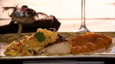 Confira a receita com peixe, abóbora e cuscuz - Receita traz tudo em um delicioso prato.