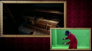 Sinistro! Marco Luque e Alok brincam em jogo de realidade virtual de terror - Marco luque leva a melhor na prova
