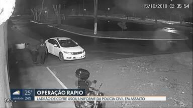 Polícia Civil prende suspeito de roubar distribuidora de bebidas - Thiago Braga Martins, de 28 anos, é considerado pela polícia um dos maiores ladrões de cofre do DF. Ele e os comparsas levaram R$150 mil do cofre em outubro do ano passado.