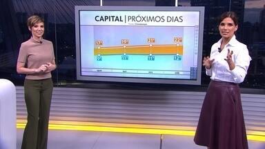 Veja a previsão do tempo para esta terça-feira (16) em São Paulo - Frente fria já passou por São Paulo e vai em direção ao Rio e ao Espírito Santo. A temperatura máxima chega a 18ºC na Capital.