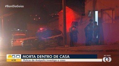 Mulher é morta a facadas em Anápolis - Segundo a Polícia Civil, o marido da vítima é suspeito de cometer o crime.