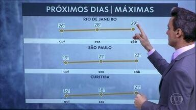 Frio deve diminuir no centro-sul do país até o fim de semana - As máximas já ficam mais amenas no Sudeste e no Sul do Brasil.