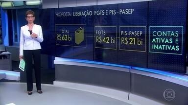 Governo anunciará liberação de saques do FGTS nesta semana - Medida para estimular o consumo deve injetar R$ 63 bilhões na economia, sendo R$ 42 bilhões com saques do FGTS e R$ 21 bilhões do PIS-Pasep.