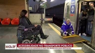 Acessibilidade nos trens da CPTM volta a ser tema do Anda SP - Pessoas que precisam das linhas de trem sofrem com a falta de acessibilidade