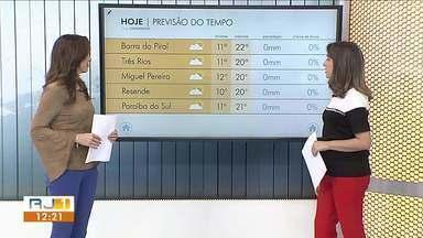 Meteorologia prevê sol e ar seco no Sul do Rio - Temperaturas seguem baixas.