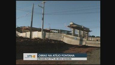 JA atualiza situação das obras do elevado da Atílio Fontana em Chapecó - JA atualiza situação das obras do elevado da Atílio Fontana em Chapecó