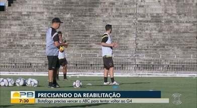 Buscando a reabilitação contra o ABC, Botafogo-PB realiza seus últimos treinos; veja - Belo e Elefante se enfrentam neste sábado, às 17h, no Estádio Almeidão, em confronto válido pela décima terceira rodada da Série C do Brasileiro