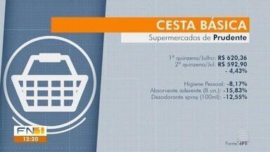 Valor da cesta básica apresenta queda em Presidente Prudente - Quilo do tomate apresentou redução no preço.