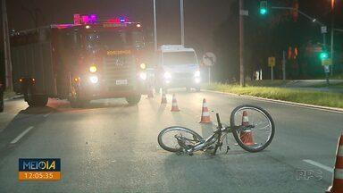 Polícia aponta que motorista que atropelou ciclista em Curitiba bebeu antes de dirigir - O ciclista de 19 anos morreu depois de ser atropelado na BR-476.
