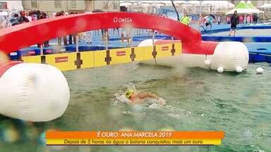 Ana Marcela, maior medalhista da Maratona Aquática, ganha mais um ouro - A atleta baiana conquistou pela quarta vez uma medalha de ouro, na prova de 25 Km na Maratona Aquática do Campeonato Mundial 2019.