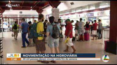 Terminal hidroviário espera receber 35 mil pessoas neste fim de semana - Terminal rodoviário espera receber 35 mil pessoas neste fim de semana