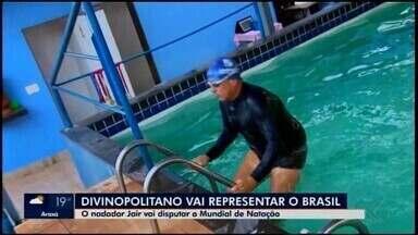 Professor de natação de Divinópolis divide rotina entre aulas e provas antes do Mundial - Jair Miranda, de 62 anos, disputará Campeonato Mundial na Coreia do Sul