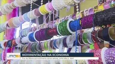 Movimentação na economia pré Flor do Maracujá - Arraial movimenta principalmente o movimento têxtil.