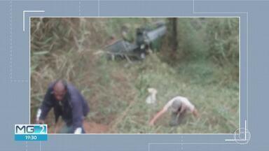 Homem morreu após ser arremessado em acidente na MG030 - Homem morreu após ser arremessado em acidente na MG030
