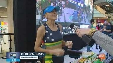 Ultramaratonista busca recorde mundial de corrida em esteeira em Florianópolis - Ultramaratonista busca recorde mundial de corrida em esteeira em Florianópolis