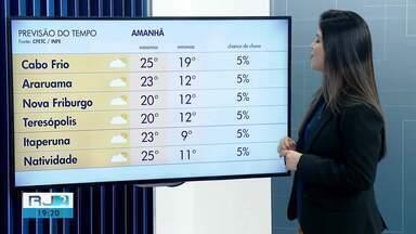 Confira a previsão do tempo para as regiões dos Lagos e Serrana do Rio - Massa de ar frio impede elevação da temperatura neste sábado (20).