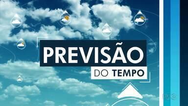Previsão de chuva para domingo em Foz e Francisco Beltrão - As máximas ficam entre 23 e 25 graus no Oeste e Sudoeste.