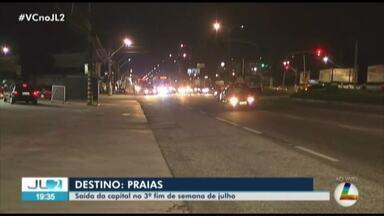 Confira o trânsito na saída de Belém pela rodovia BR-316 - Imagens ao vivo mostram o trânsito de veículos.