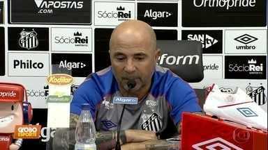 Na véspera do jogo contra o Botafogo, Sampaoli fala sobre os sete meses à frente do Santos - Na véspera do jogo contra o Botafogo, Sampaoli fala sobre os sete meses à frente do Santos