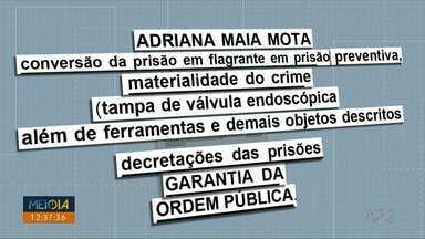 Justiça nega pedidos de liberdade aos presos por envolvimento no furto do HU de Londrina - Quatro pessoas estão presas, três delas são colombianas. A mulher brasileira presa nega participação no crime e afirma que não estava no hospital no momento do furto.