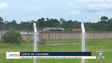 Com surto de caxumba, presídio de Rio Branco tem presos isolados com a doença - Com surto de caxumba, presídio de Rio Branco tem 40 presos isolados com a doença