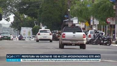 Prefeitura de Maringá vai gastar R$ 100 milhões com aposentadorias este ano - Valor é o repasse da prefeitura de Maringá para complementar custo da previdência municipal.