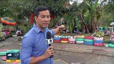 Moradores se unem para construir praça - Local, em Suzano, era ponto de descarte de lixo e foi revitalizado.