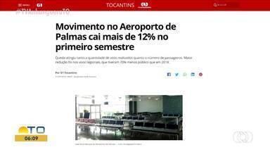G1 destaca queda de mais de 12% no aeroporto de Palmas no primeiro semestre - G1 destaca queda de mais de 12% no aeroporto de Palmas no primeiro semestre