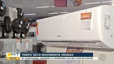 Tempo seco movimenta vendas de umidificadores, ventiladores e ares-condicionados - Tempo seco movimenta vendas de umidificadores, ventiladores e ares-condicionados