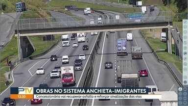 Sistema Anchieta-Imigrantes passa por semana de obras - Concessionária vai reformar asfalto, reforçar sinalização e faixas serão interditadas ao longo da semana nas duas rodovias.