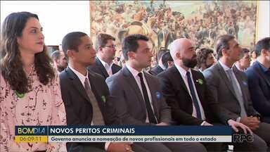 Novos peritos criminais - Governo anuncia a nomeação de novos profissionais em todo o estado.