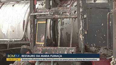 Reforma da Maria Fumaça - Exército e Prefeitura de Ponta Grossa se unem para reforma de locomotiva.