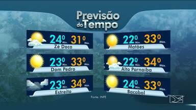 Veja as variações das temperaturas no Maranhão - Confira a previsão do tempo nesta terça-feira (23) em São Luís e também no interior do estado.