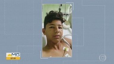 Adolescente de 15 anos ferido com linha mais cortante que cerol segue sem previsão de alta - Gabriel Lucas, que é jogador de futebol e sonha em ser profissional, ainda corre o risco de ter a perna esquerda, ferida gravemente pela linha chilena, amputada.