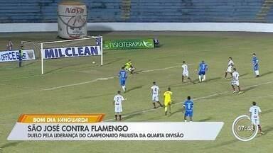 São José para na trave e fica no empate sem gols com o Flamengo - Resultado embola classificação do grupo na Segundona do Paulista.