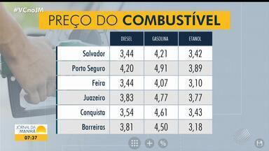 JM faz giro nas principais cidades baianas para mostrar pesquisa de preço dos combustíveis - Confira as informações de Feira de Santana, Porto Seguro, Juazeiro, Barreiras, Vitória da Conquista e na capital baiana.